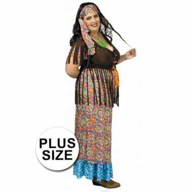 Grote maat hippie jurk voor dames