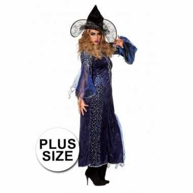 Halloween Grote maten heksenjurk paars