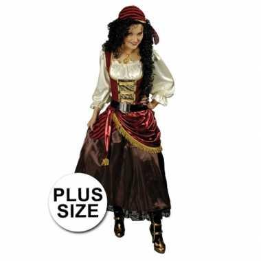 Maten  Grote maat piraten jurk bandana