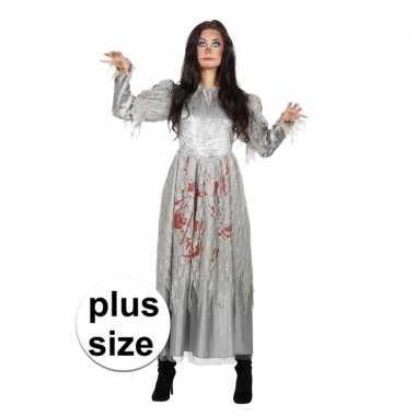 Maten halloween grote maat zombie halloween bruidsjurk dames