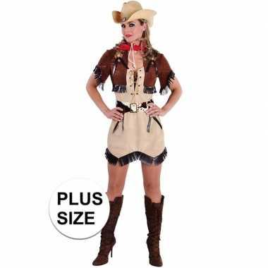 Toppers grote maten cowgirl jurkje bolero dames